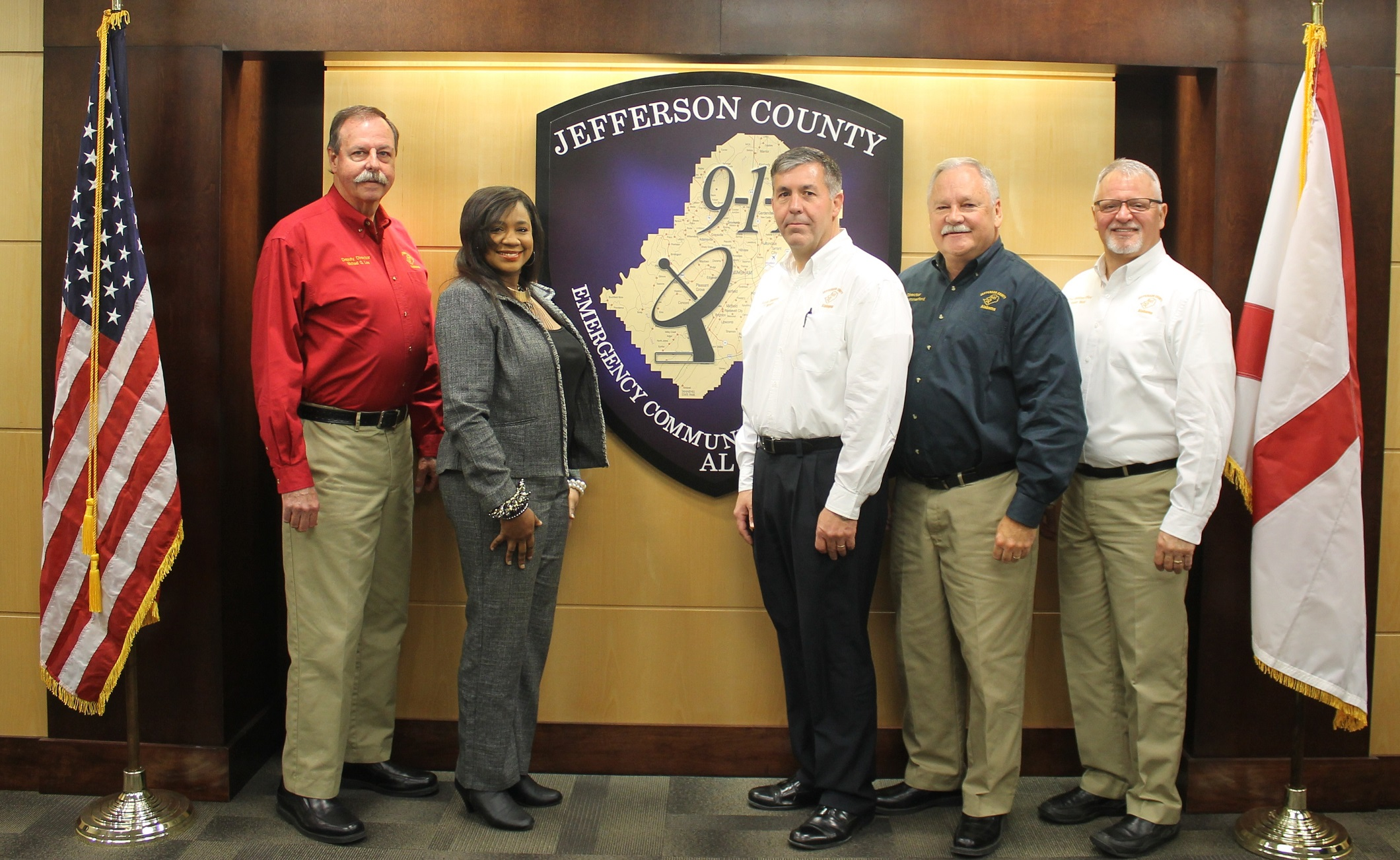 Left to right; Deputy Director M.G. Lee, Admin. Assistant Inez Oden, IT Manager Scott Sharpton, Director Howard Summerford, Chief Operations Officer Steven Webb